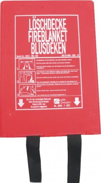 Löschdecke 160 x 180 cm in Kunststoffbox